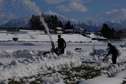 「雪割りて」 中村 秀蔵さん(勝山市)
